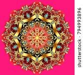 mandala brooch jewelry  design... | Shutterstock .eps vector #794993896