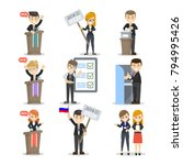 election and debates with... | Shutterstock .eps vector #794995426