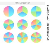 set of various colorful... | Shutterstock .eps vector #794998945