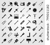 tools vector icons set. wire... | Shutterstock .eps vector #795011182