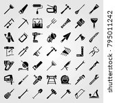 tools vector icons set. sealant ... | Shutterstock .eps vector #795011242