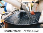 pouring concrete from a... | Shutterstock . vector #795011362