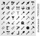 tools vector icons set. pliers  ... | Shutterstock .eps vector #795012022