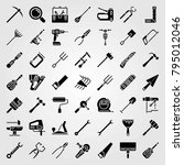 tools vector icons set. power... | Shutterstock .eps vector #795012046