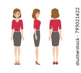 woman character in business... | Shutterstock .eps vector #795021622
