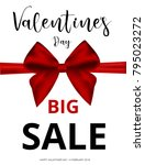 valentine's day sale offer ... | Shutterstock .eps vector #795023272