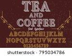 font alphabet script typeface... | Shutterstock .eps vector #795034786