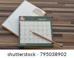 calendar february 2018 with... | Shutterstock . vector #795038902
