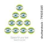striking eye pyramid design.   Shutterstock .eps vector #79505185