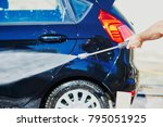 manual vehicle washing on a car ...   Shutterstock . vector #795051925
