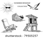 summer beach collection of icons | Shutterstock .eps vector #79505257