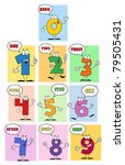 funny friendly comics numbers... | Shutterstock .eps vector #79505431