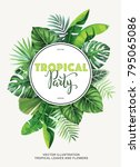 Tropical Party Invitation With...