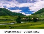 qinghai   tibet plateau scenery | Shutterstock . vector #795067852