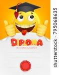 diploma template certificate...   Shutterstock .eps vector #795068635