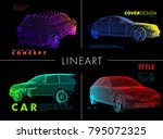 art image of a auto. vector car ... | Shutterstock .eps vector #795072325
