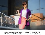 young fashion business woman in ... | Shutterstock . vector #795079225