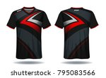 soccer jersey template. mock up ... | Shutterstock .eps vector #795083566