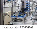 industry 4.0 robot concept .the ... | Shutterstock . vector #795088162