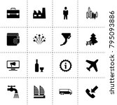 pictogram icons. vector...