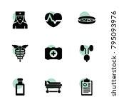 healthcare icons. vector... | Shutterstock .eps vector #795093976
