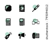 electronic icons. vector...