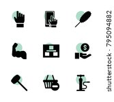 hand icons. vector collection...
