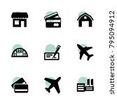 commercial icons. vector...