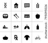 healthy icons. vector...