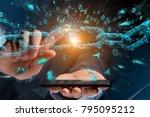 view of a weak link of a broken ... | Shutterstock . vector #795095212
