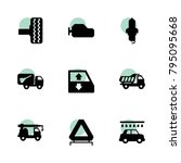 automobile icons. vector... | Shutterstock .eps vector #795095668
