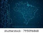 abstract mash line and point... | Shutterstock .eps vector #795096868