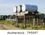 Fuel Tanks On A Prairie Farm...