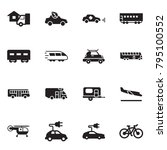 solid black vector icon set  ... | Shutterstock .eps vector #795100552