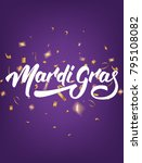 mardi gras. poster with mardi... | Shutterstock .eps vector #795108082