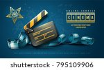 online cinema art movie poster... | Shutterstock .eps vector #795109906