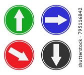 direction arrows in circle.... | Shutterstock .eps vector #795116842