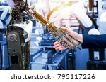 cyber communication and robotic ... | Shutterstock . vector #795117226