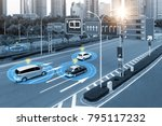 smart car  hud    iot  ... | Shutterstock . vector #795117232