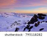 sunrise over uhuru peak  top of ... | Shutterstock . vector #795118282