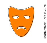 tragedy theatrical masks.... | Shutterstock .eps vector #795119878