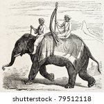 Old Illustration Of An Elephan...
