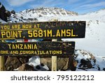 the sign on the rim of crater... | Shutterstock . vector #795122212