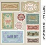 set labels nostalgia | Shutterstock .eps vector #79512283