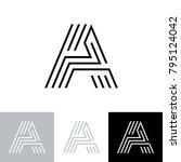 letter a logo | Shutterstock .eps vector #795124042