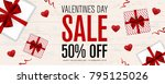 valentines day sale background. ... | Shutterstock .eps vector #795125026