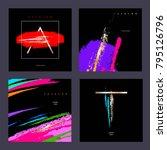 design template. set of covers...   Shutterstock .eps vector #795126796