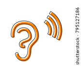human anatomy. ear sign with...   Shutterstock .eps vector #795127186