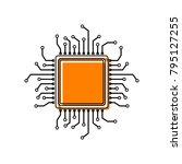 cpu microprocessor illustration.... | Shutterstock .eps vector #795127255