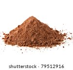 Cocoa Powder Isolated On White...